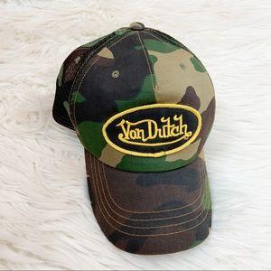 Von Dutch Camo Trucker Hat Classic Logo Mesh